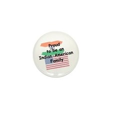 Indian-American Family Mini Button (10 pack)