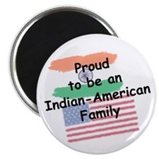 Indian-American Family Magnet