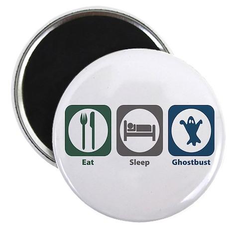 Eat Sleep Ghostbust Magnet