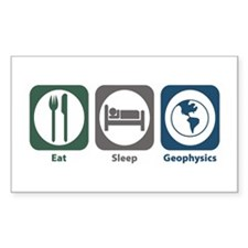 Eat Sleep Geophysics Rectangle Decal