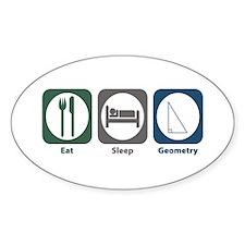 Eat Sleep Geometry Oval Decal