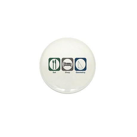 Eat Sleep Geometry Mini Button (100 pack)