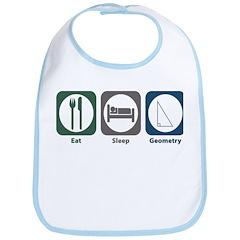 Eat Sleep Geometry Bib