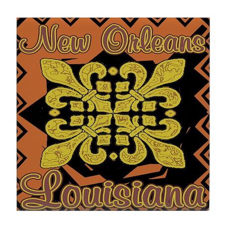 New Orleans, LA Fleur De Lis Tile Coaster