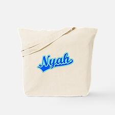 Retro Nyah (Blue) Tote Bag