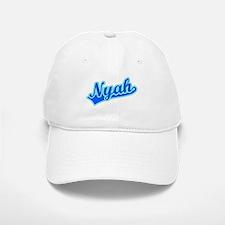 Retro Nyah (Blue) Baseball Baseball Cap