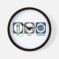 Eat Sleep Geography Wall Clock
