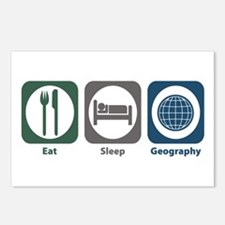 Eat Sleep Geography Postcards (Package of 8)