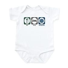 Eat Sleep Geography Infant Bodysuit