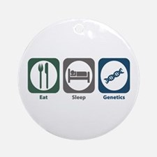 Eat Sleep Genetics Ornament (Round)