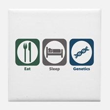 Eat Sleep Genetics Tile Coaster