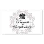 The Princess Is Scrapbooking Rectangle Sticker 50