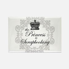 The Princess Is Scrapbooking Rectangle Magnet