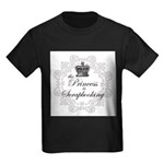 The Princess Is Scrapbooking Kids Dark T-Shirt