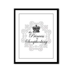 The Princess Is Scrapbooking Framed Panel Print