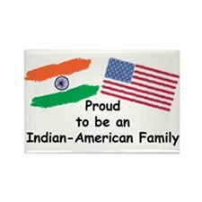 Indian-American Family Rectangle Magnet