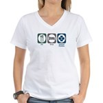 Eat Sleep General Practice Women's V-Neck T-Shirt