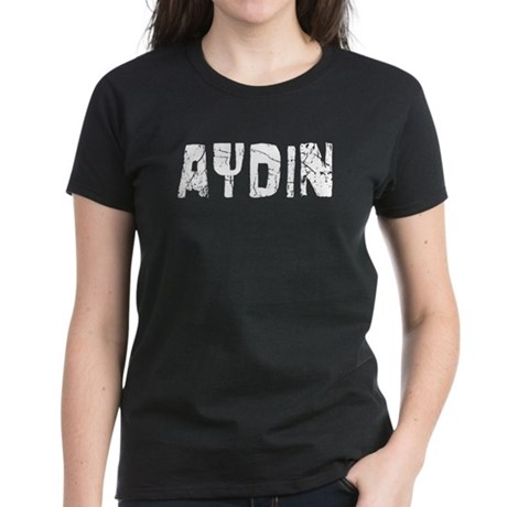 Aydin Faded (Silver) Women's Dark T-Shirt
