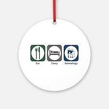 Eat Sleep Genealogy Ornament (Round)