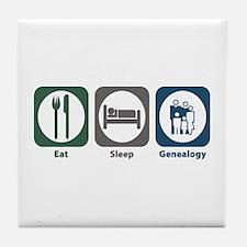 Eat Sleep Genealogy Tile Coaster