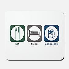 Eat Sleep Genealogy Mousepad