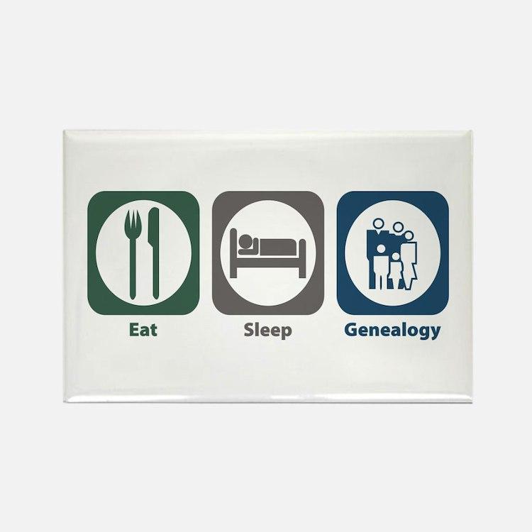 Eat Sleep Genealogy Rectangle Magnet