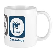 Eat Sleep Genealogy Mug