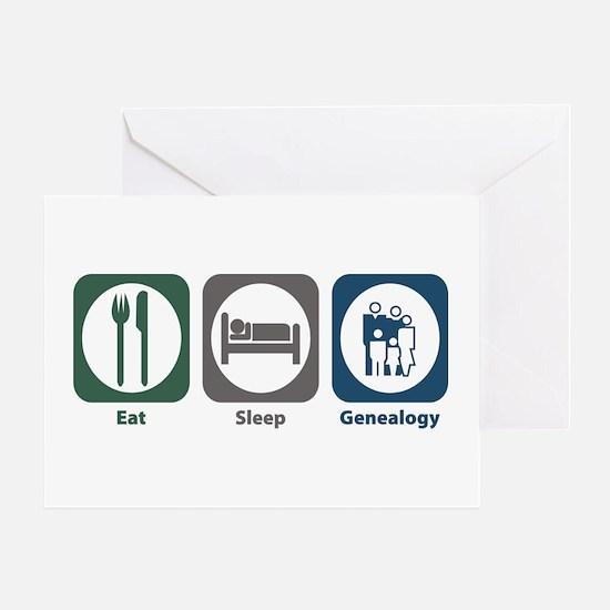 Eat Sleep Genealogy Greeting Card