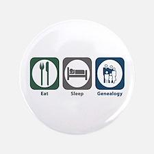 """Eat Sleep Genealogy 3.5"""" Button (100 pack)"""