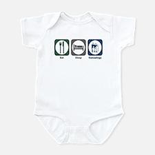 Eat Sleep Genealogy Infant Bodysuit