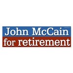 John McCain for Retirement bumper sticker