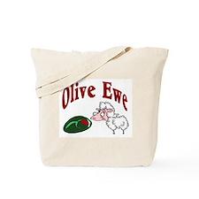 I Love You: Olive Ewe Tote Bag