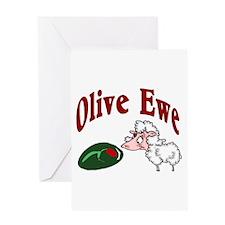 I Love You: Olive Ewe Greeting Card
