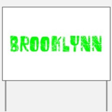 Brooklynn Faded (Green) Yard Sign