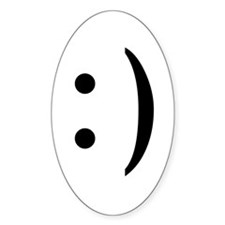 ASCII Smiley Guy Oval Decal
