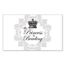 The Princess Is Beading Rectangle Decal