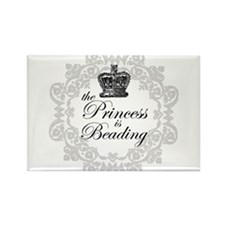 The Princess Is Beading Rectangle Magnet