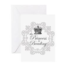 The Princess Is Beading Greeting Card