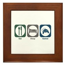 Eat Sleep Gamer Framed Tile