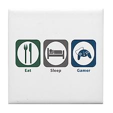 Eat Sleep Gamer Tile Coaster