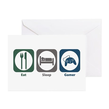 Eat Sleep Gamer Greeting Cards (Pk of 10)