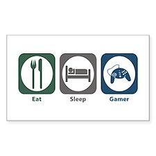 Eat Sleep Gamer Rectangle Decal