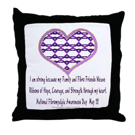 Family & Fibro Friends Weave 2 Throw Pillow