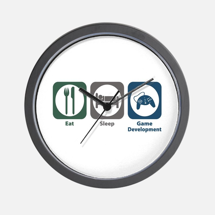 Eat Sleep Game Development Wall Clock