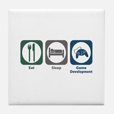 Eat Sleep Game Development Tile Coaster