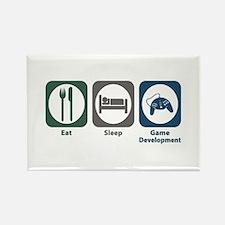 Eat Sleep Game Development Rectangle Magnet (100 p