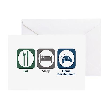 Eat Sleep Game Development Greeting Card
