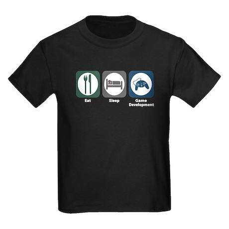 Eat Sleep Game Development Kids Dark T-Shirt