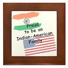 Indian-American Family Framed Tile