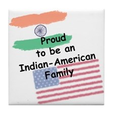 Indian-American Family Tile Coaster